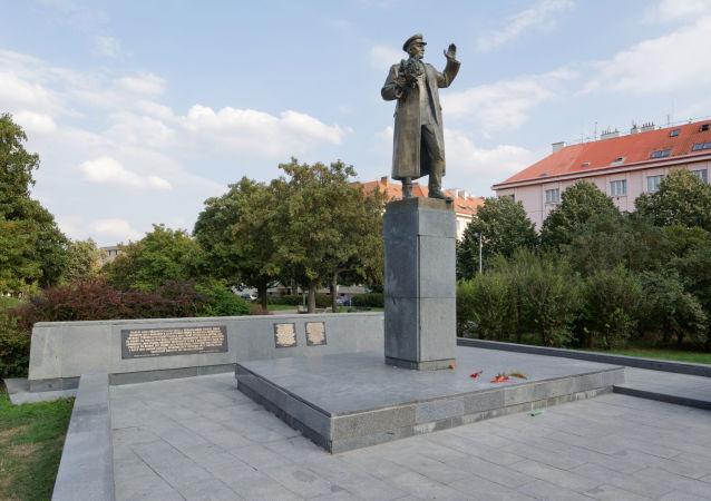 Socha sovětského maršála Ivana Koněva v Praze