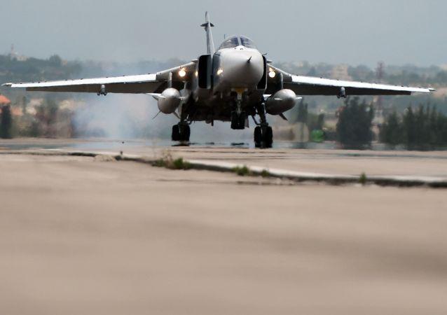 Ruský letoun Su-24 v Sýrii