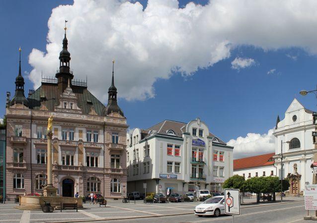 Pohled na náměstí českého města Turnov