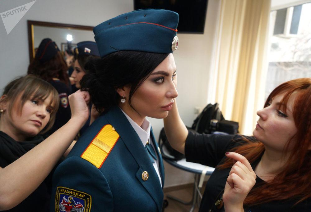 Účastnice 5. ročníku soutěže Krása v uniformě.