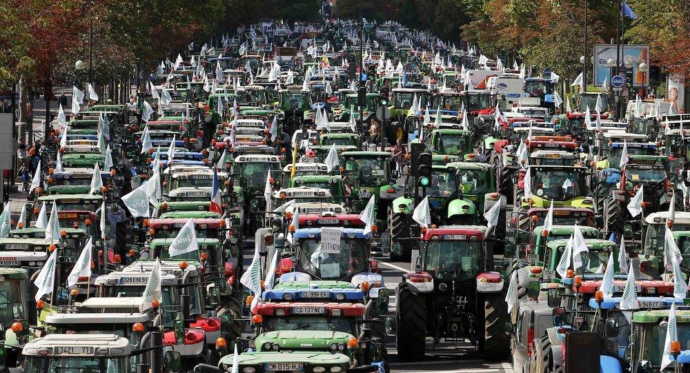 Protestní akce francouzských farmářů