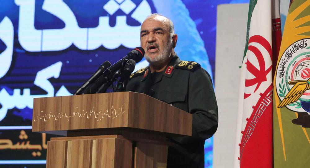 Hossein Salami, velitel sboru islámských revolučních gard (IRGC, součást ozbrojených sil Íránu).