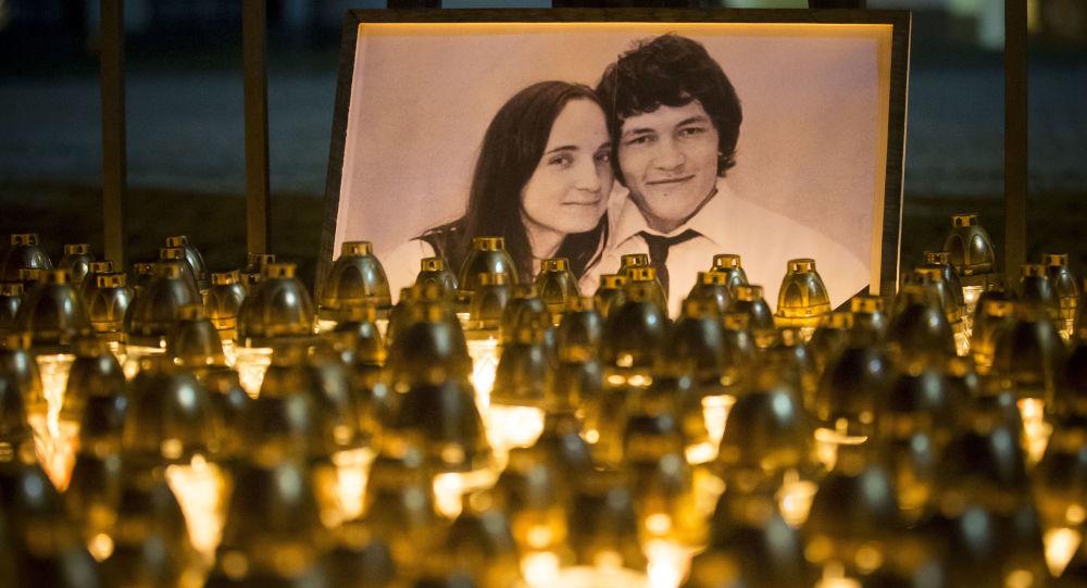 Během tiché demonstrace na památku zavražděného novináře Jána Kuciaka