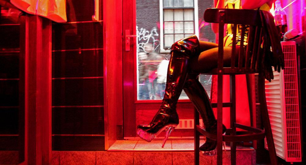 čtvrť červených luceren v Amsterdamu