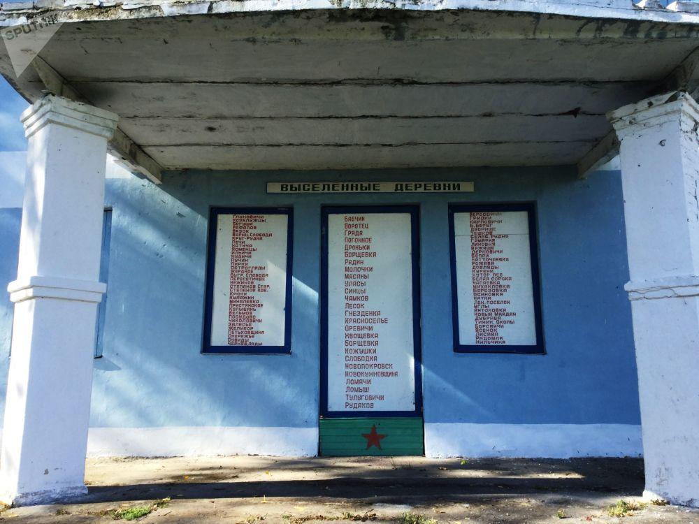Seznam vystěhovaných vesnic v Poleské státní radiačně-ekologické rezervaci.