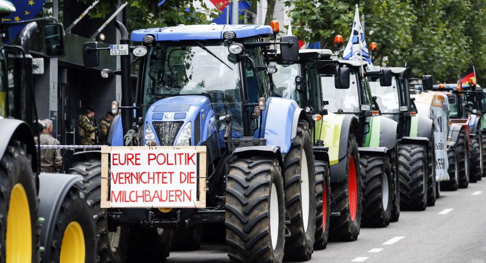Akce protestů farmářů v Bruselu