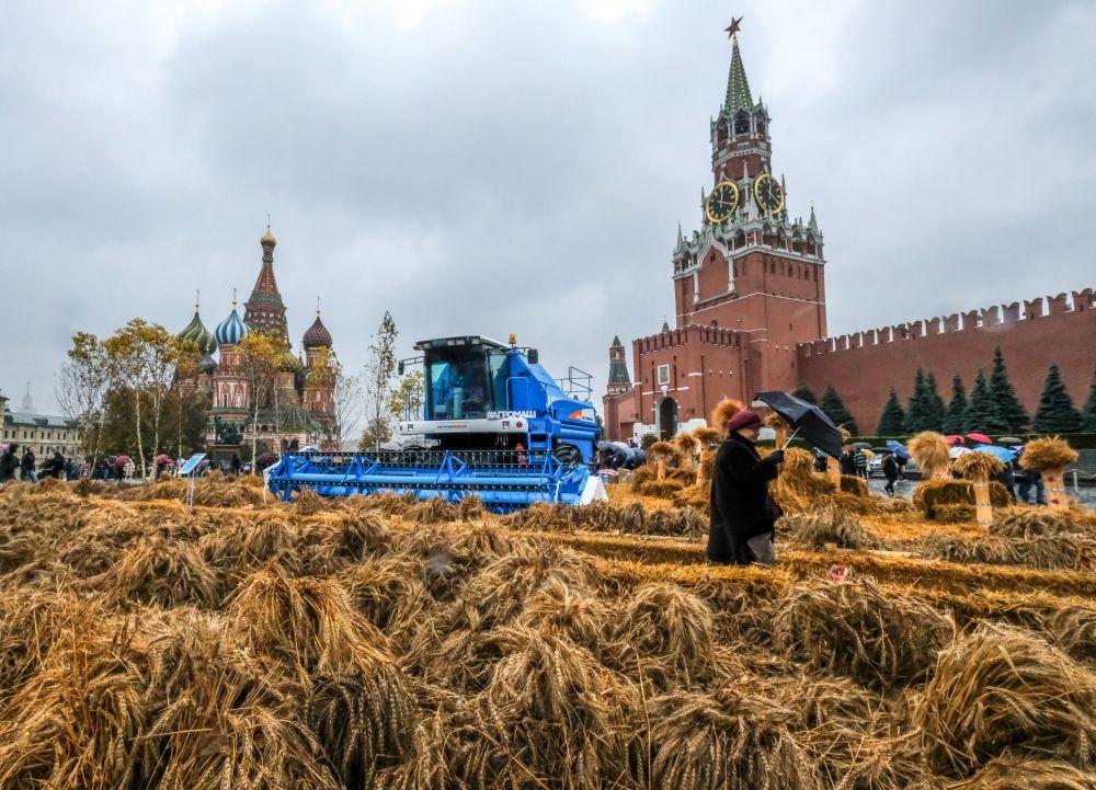 Podzimní festival na Rudém náměstí v Moskvě