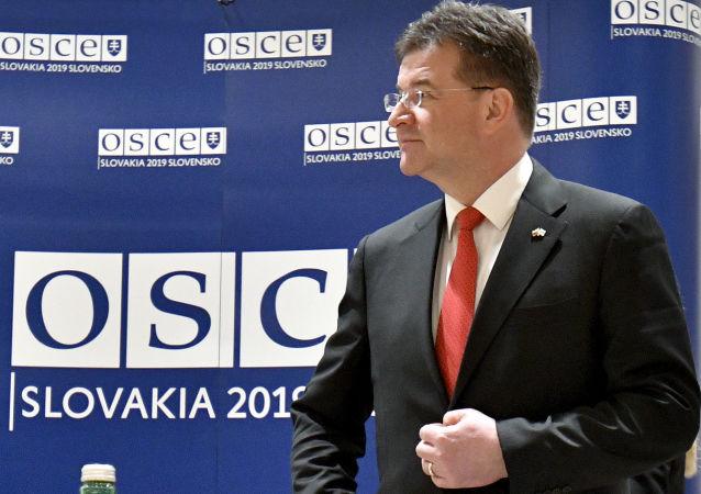Úřadující předseda Organizace pro bezpečnost a spolupráci v Evropě (OBSE), slovenský ministr zahraničí Miroslav Lajčák