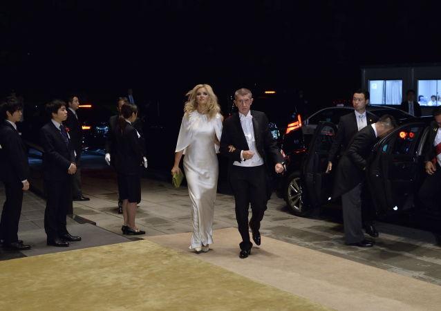 Český premiér Andrej Babiš a jeho manželka Monika