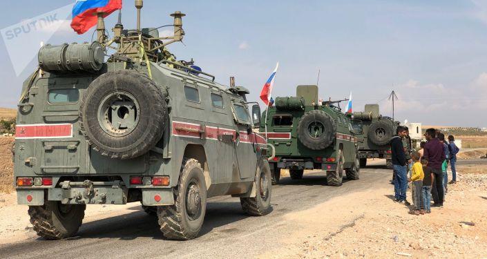Ruští vojenští policisté v Sýrie