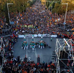 V Barceloně probíhají protestní akce na podporu odsouzených politiků