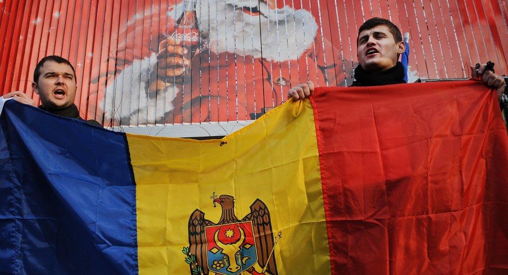 Protest v Moldávii. Archivní foto.