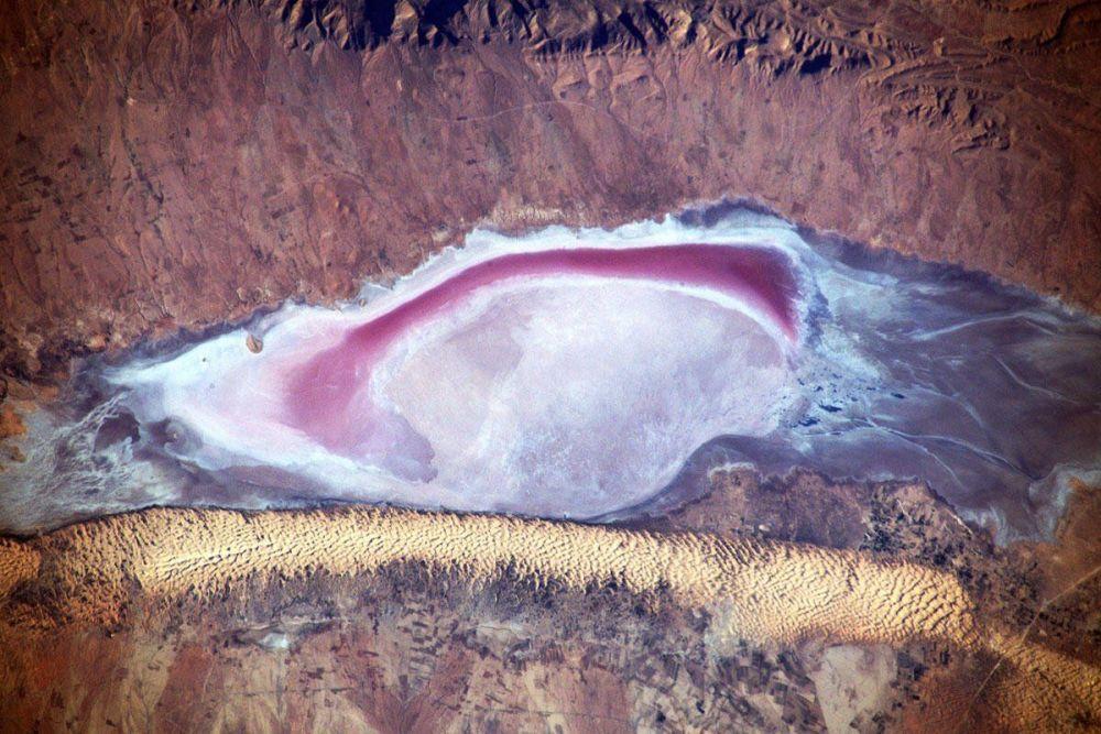 Pohled na Afriku z paluby Mezinárodní kosmické stanice.