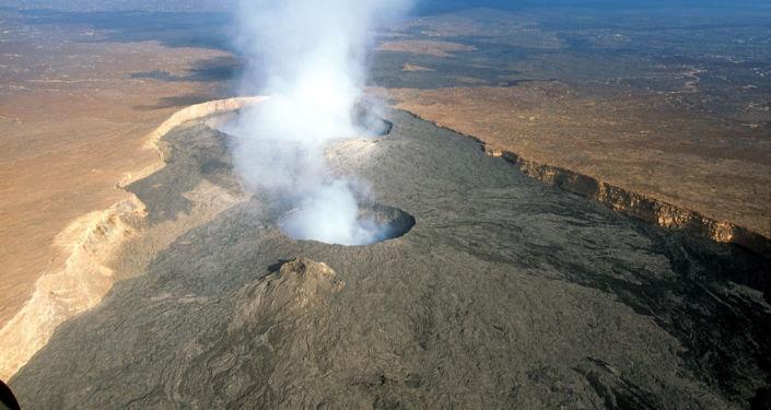 Sopka Erta Ale v severovýchodní Etiopii