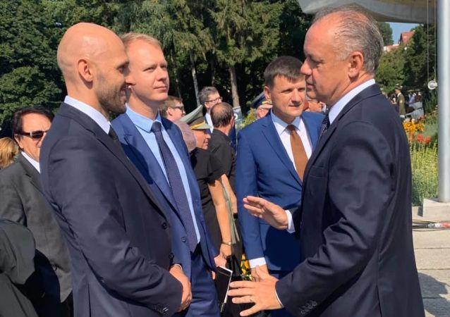 Andrej Kiska spolu s Michalem Trubanem