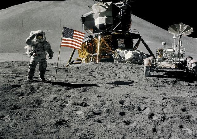 Astronaut James Irwin na Měsíci