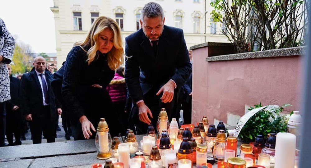 Slovenská prezidentka Zuzana Čaputová a premiér Peter Pellegrini