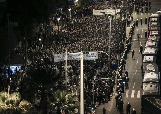 V neděli se v Athénách konaly protiamerické demonstrace