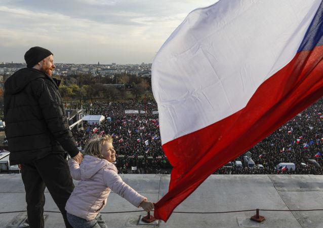 Protivládní protesty v Praze 16. listopadu 2019