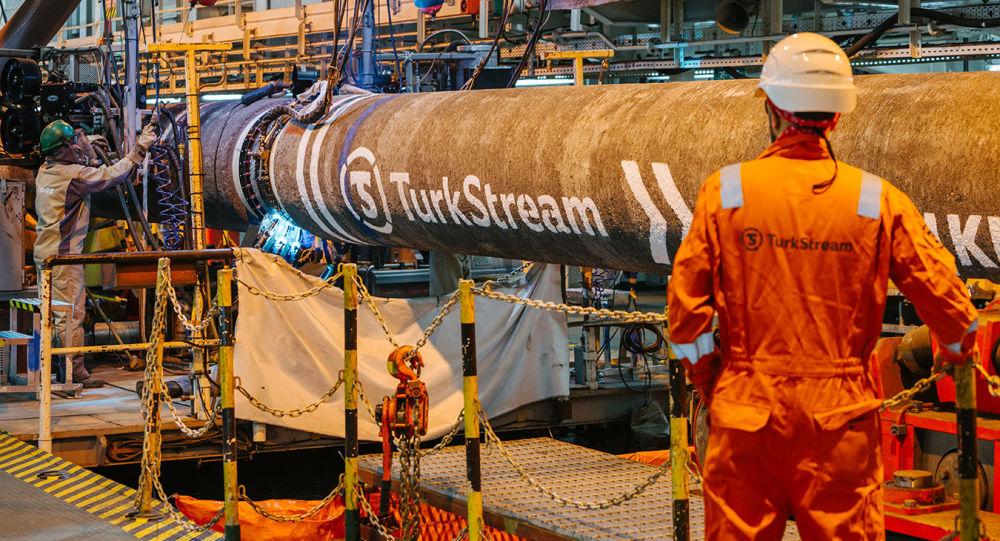 Výstavba plynovodu Turecký proud