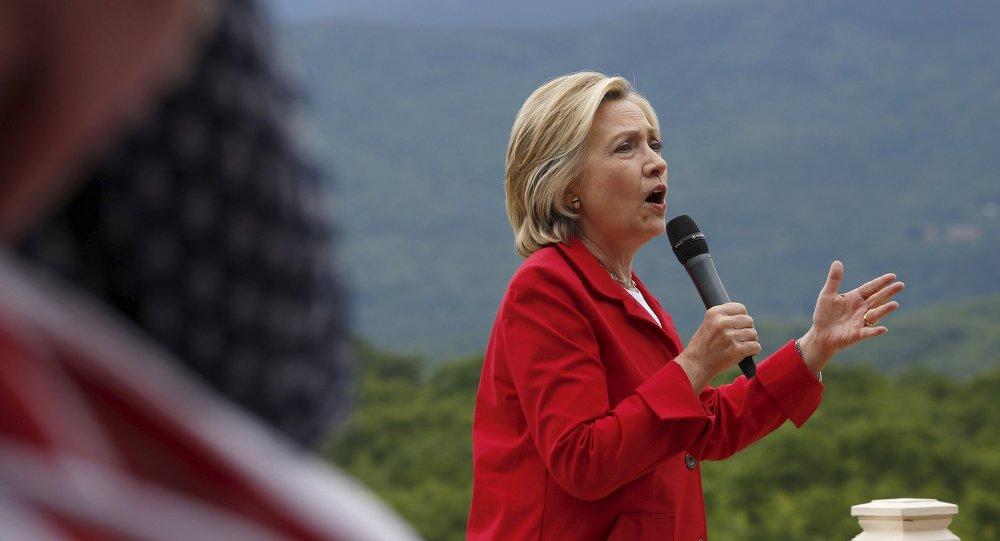 Kandidátka na prezidentku USA Hillary Clinton