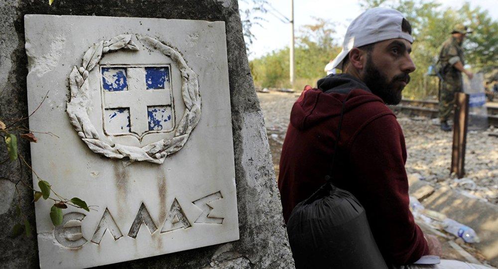 Migrant v Řecku