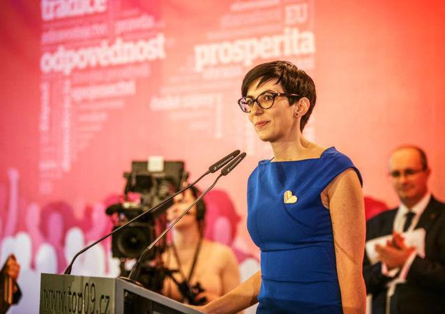 Předsedkyně strany TOP 09 Markéta Pekarová Adamová