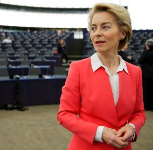 Předsedkyně Evropské komise Ursula von der Leyenová v Evropském parlamentu v Bruselu (27. 11. 2019)