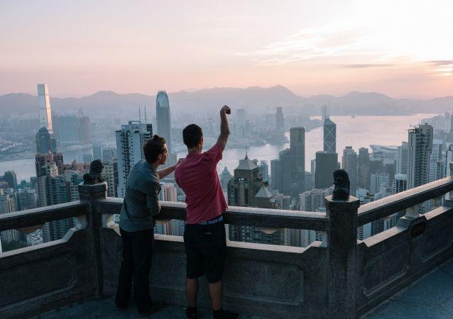 Výhled na Hongkong