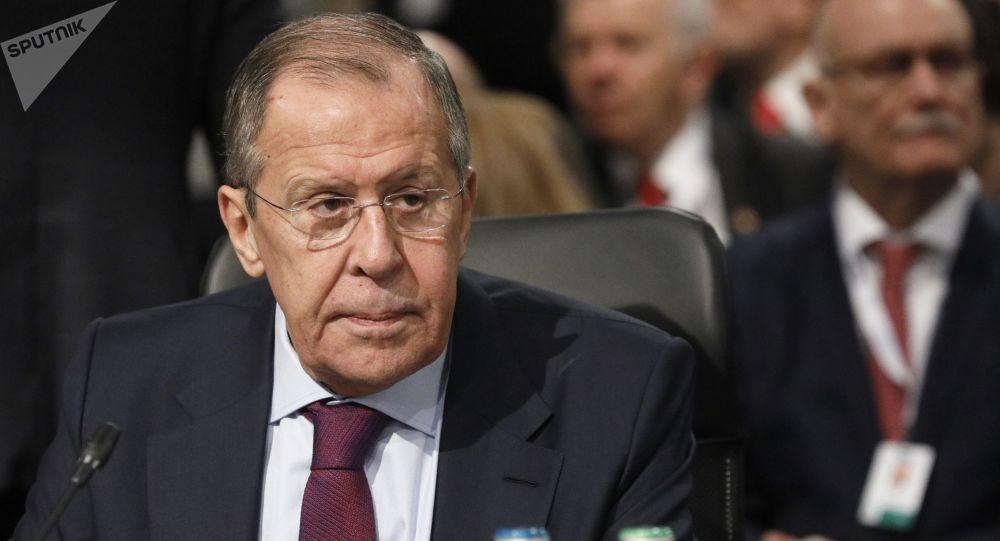 Ruský ministr zahraničí Sergej Lavrov na 26. zasedání Rady ministrů zahraničí OBSE (5. 12. 2019)