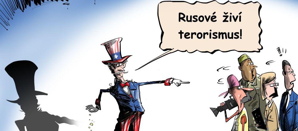 Rusové živí terorismus