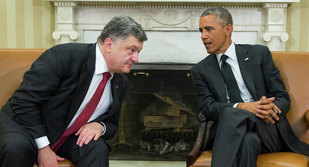 Petro Porošenko a Barack Obama