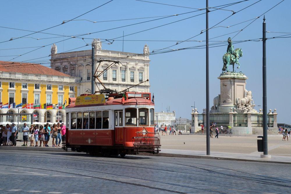 Starodávná tramvaj v Lisabonu, Portugalsko