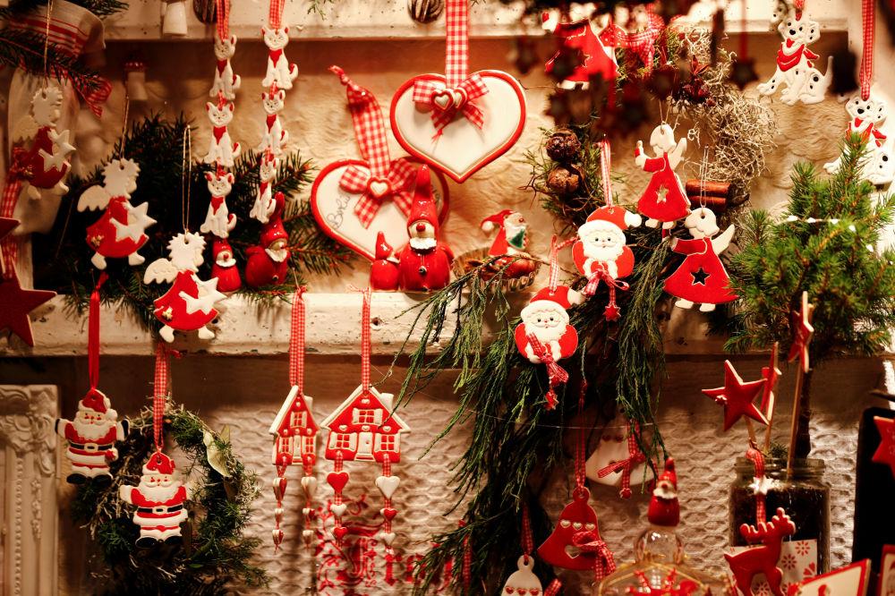 Vánoční jarmark na náměstí Gendarmenmarkt v Berlíně