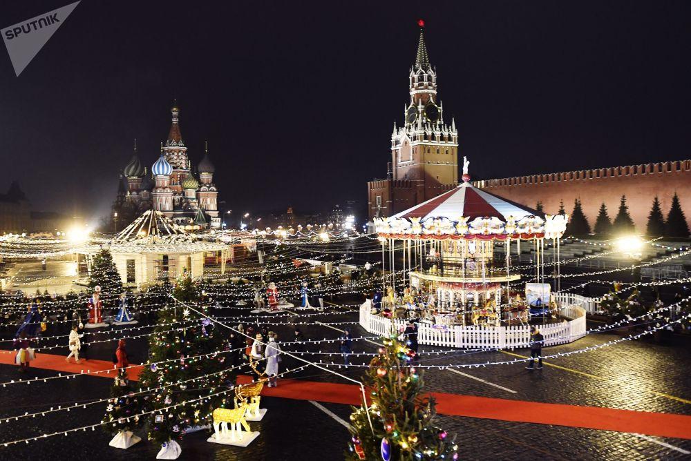 Kluziště a jarmark na Rudém náměstí, Moskva