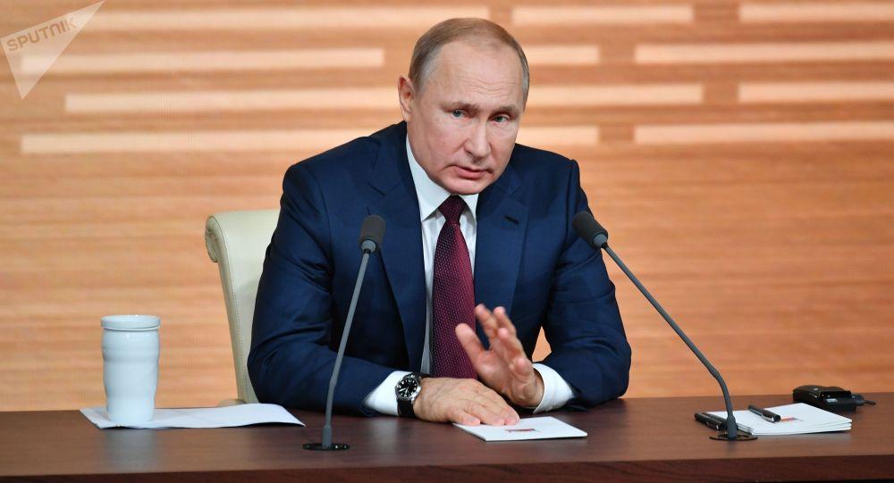 Tisková konference Vladimira Putina (19. 12. 2019)