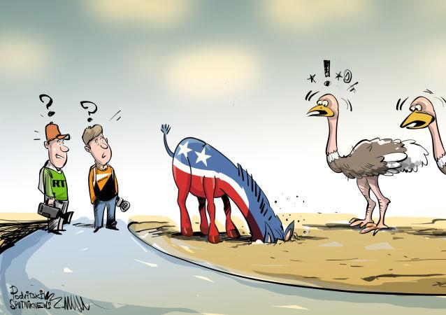 Osel je symbol demokratické strany