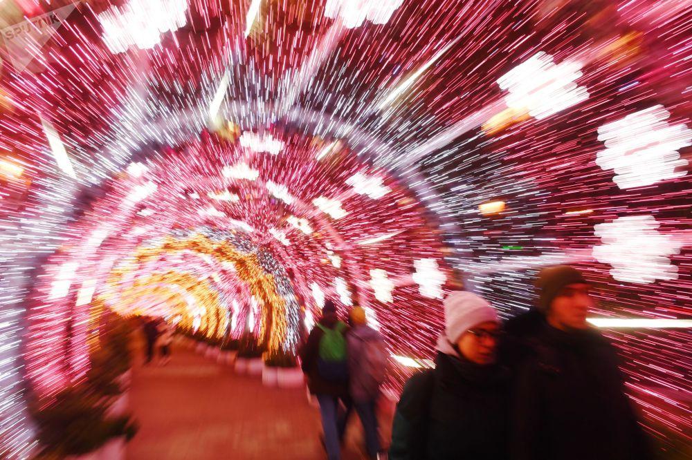 Vánoční výzdoba v Moskvě