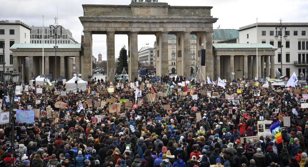Akce Fridays For Future v Berlině