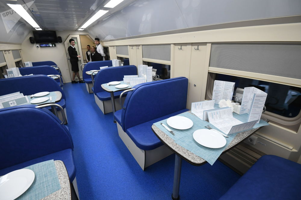 Restaurační vůz vlaku Tavria