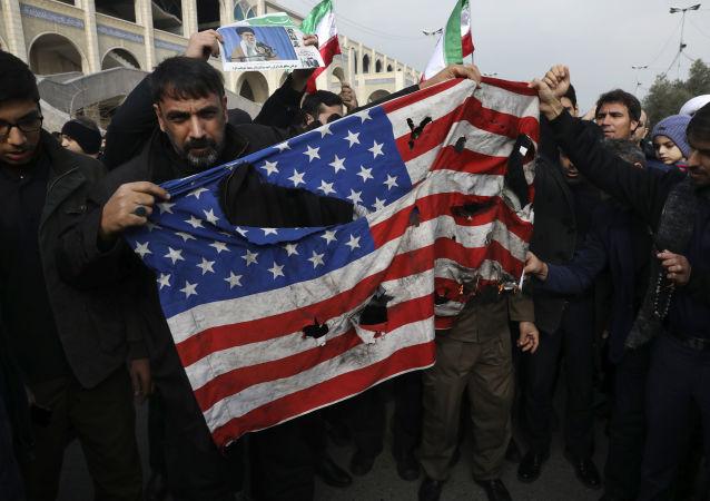 Demonstrace v Iráku po likvidace Sulejmáního