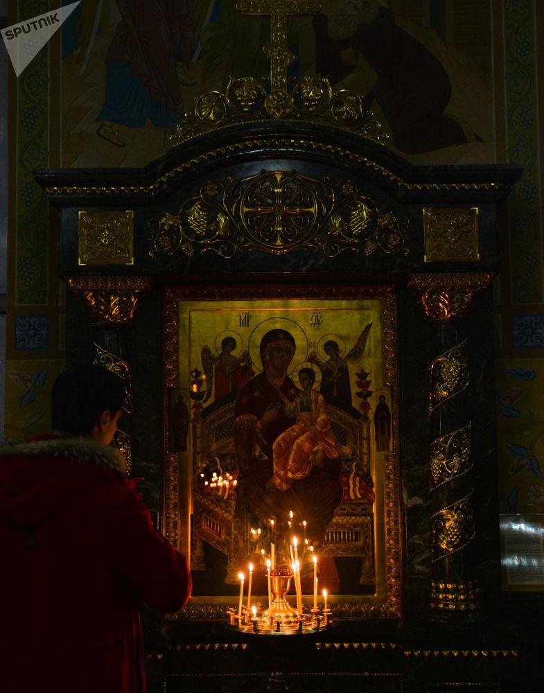 Vánoční bohoslužba v Jekatěrinburgu