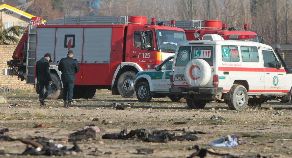 Místo pádu ukrajinského Boeingu 737-800