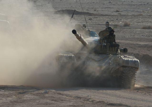 Tank T-72 v Sýrii