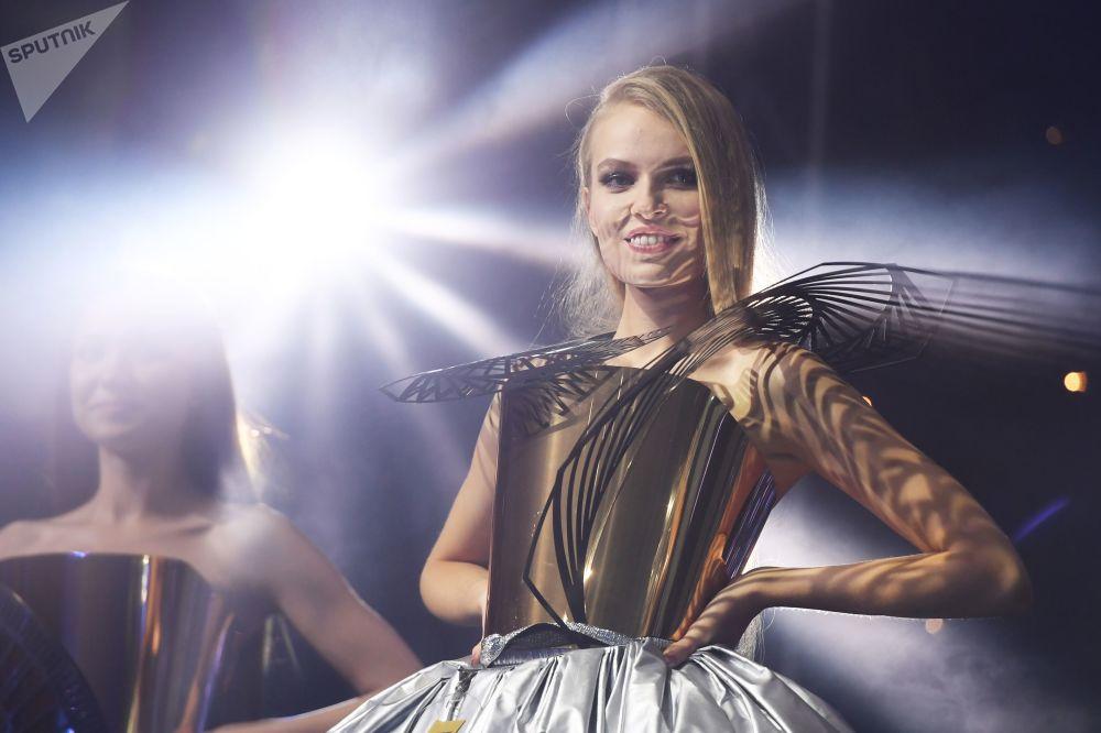 Účastnice soutěže krásy Miss Tatarstán 2020 v Kazani.