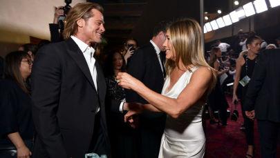Herec Brad Pitt a herečka Jennifer Anistonová na slavnostním předávání cen amerického Sdružení filmových a televizních herců (SAG)