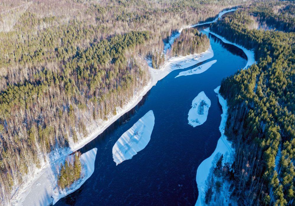 Řeka Šuja v Karelské republice