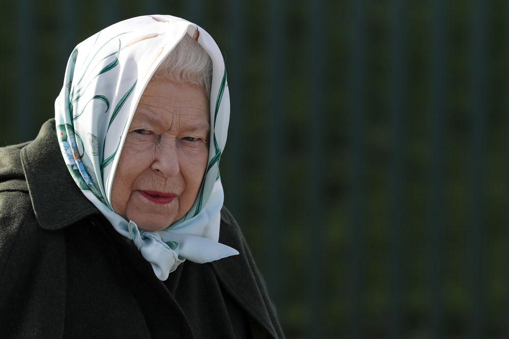 Britská královna Alžběta II. během návštěvy Norfolku