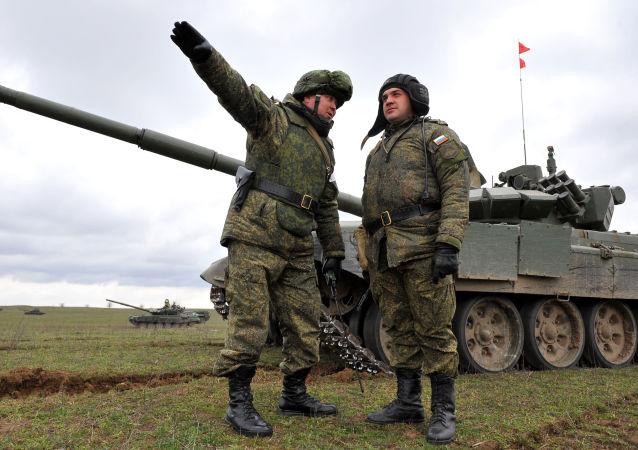 Cvičení ruských vojáků