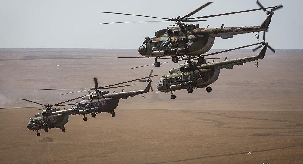 Vrtulníky MI-8 v Astrachani